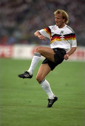 Andreas Brehme was the best left-back in the World Cup as well as the matchwinning hero in the final when converting the penalty five minutes from the end.