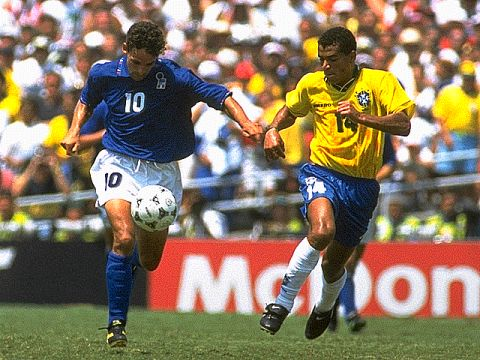Roberto Baggio followed closely by Cafu. The quality of defensive play was extremely high in the final, and Baggio wasn't the only attacker who had problems.